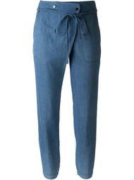 зауженные брюки с завязкой на поясе Vince