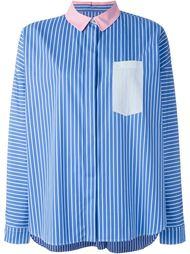 рубашка с контрастным воротником   Odeeh