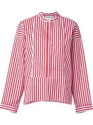 полосатая рубашка с воротником-стойкой Maison Rabih Kayrouz