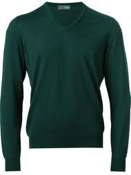 свитер c V-образным вырезом   Drumohr