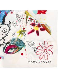 шарф с принтом Marc Jacobs