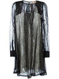 кружевное платье с длинными рукавами Nº21