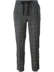 укороченные брюки с принтом  Incotex