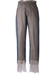 джинсы со вставкой из тюля  Quetsche
