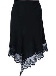 юбка с кружевным подолом Givenchy