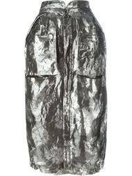 жаккардовая юбка с цветочным узором Maison Margiela
