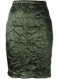 юбка с мятым эффектом  Nina Ricci