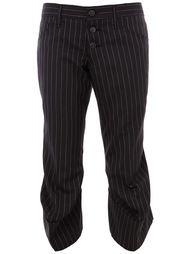 укороченный брюки в полоску Christopher Nemeth