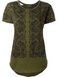 футболка с принтом пейсли  Alexander McQueen