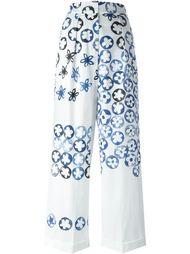 широкие брюки с цветочным принтом Ports 1961