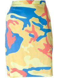 юбка с камуфляжным принтом 'Andy Warhol' Stephen Sprouse Vintage