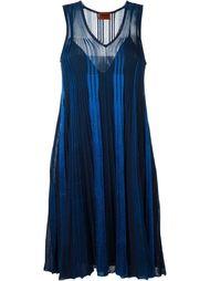 плиссированное трикотажное платье Missoni