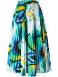 плиссированная юбка с абстрактным принтом Vionnet