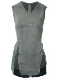 топ 'Zip on the back' Rick Owens DRKSHDW
