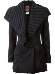 пиджак в тонкую полоску John Galliano Vintage