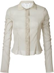 прозрачная рубашка Christian Dior Vintage