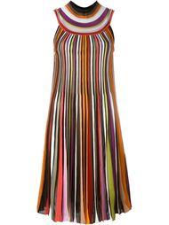 плиссированное платье с высоким воротником Missoni