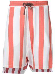 полосатые шорты с неравномерными брючинами Vivienne Westwood Man