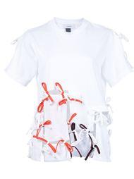 футболка с деталями на завязках Facetasm