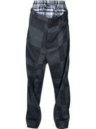 клетчатые брюки с заниженной проймой Vivienne Westwood Man