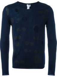 свитер с крупными дырками  Comme Des Garçons Shirt