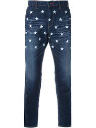 джинсы с принтом звезд  Education From Youngmachines