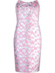 платье без бретелек с жаккардовым узором Jeremy Scott