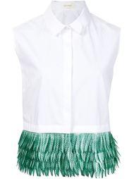блузка без рукавов с контрастным подолом Delpozo