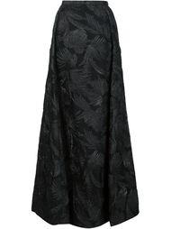 длинная юбка с жаккардовым узором Delpozo