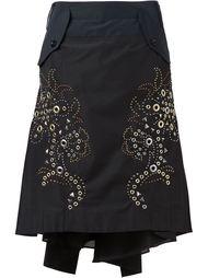 юбка с заклепками Sacai