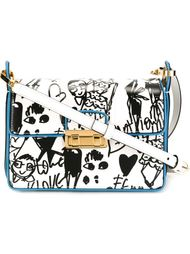 сумка через плечо 'Jiji' с принтом-скетчем Lanvin