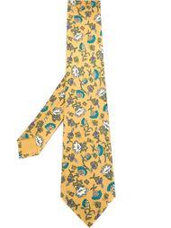 галстук с цветочным принтом Hermès Vintage