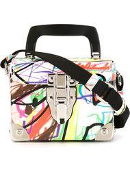 сумка-футляр с принтом-граффити Jeremy Scott
