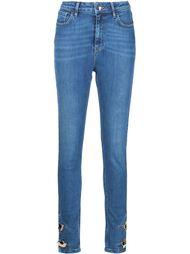 джинсы с золотистыми пуговицами Anthony Vaccarello