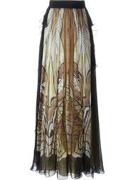 длинная юбка с абстрактным принтом Alberta Ferretti