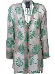 блузка с вышивкой  Ann Demeulemeester