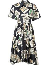 платье 'Kawabata araki'  с принтом фотокарточек  Olympia Le-Tan