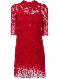 кружевное платье с пуговицами Dolce & Gabbana