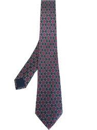 галстук с орнаментом Hermès Vintage
