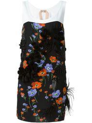 платье с цветочным принтом и аппликацией     Nº21
