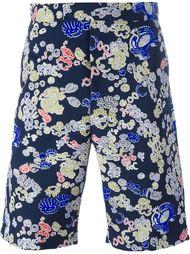 джинсовые шорты с принтом Jil Sander