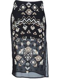 юбка 'Zeramika' с отделкой бисером Altuzarra