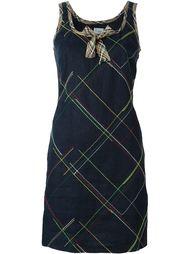 платье с простроченным узором Moschino Vintage