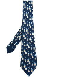 галстук с узором матрешек Hermès Vintage