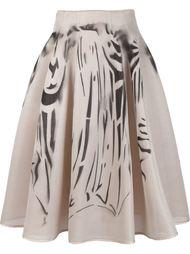 широкая сетчатая юбка с принтом Dominic Louis