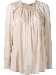 блузка со сборками на вырезе Nº21