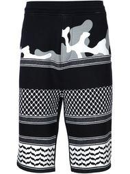 шорты со смешанным принтом Neil Barrett