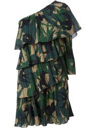 многоярусное платье на одно плечо Sonia Rykiel