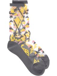 прозрачные носки с геометрическим принтом Issey Miyake Cauliflower