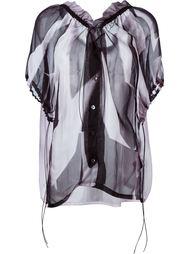 блузка с оборками  Ann Demeulemeester